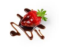 Φράουλα με τη σοκολάτα στοκ φωτογραφία με δικαίωμα ελεύθερης χρήσης