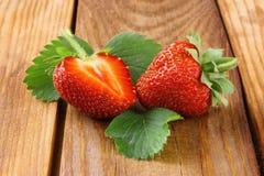 Φράουλα με τη φέτα Στοκ εικόνες με δικαίωμα ελεύθερης χρήσης
