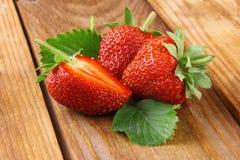 Φράουλα με τη φέτα Στοκ Εικόνα