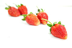 Φράουλα πέρα από την άσπρη ανασκόπηση στοκ φωτογραφία με δικαίωμα ελεύθερης χρήσης