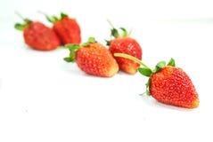 Φράουλα πέρα από την άσπρη ανασκόπηση στοκ φωτογραφία