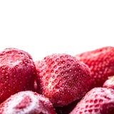 Φράουλα Παγωμένη φράουλα που απομονώνεται στο άσπρο υπόβαθρο Στοκ εικόνες με δικαίωμα ελεύθερης χρήσης
