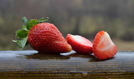 Φράουλα περικοπών Στοκ εικόνα με δικαίωμα ελεύθερης χρήσης