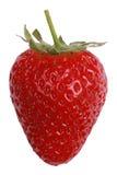 Φράουλα που απομονώνεται σε ένα άσπρο υπόβαθρο Στοκ Φωτογραφίες