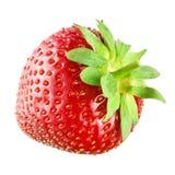 Φράουλα που απομονώνεται στο λευκό Στοκ Φωτογραφία
