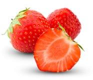 Φράουλα, που απομονώνεται στο λευκό Στοκ Εικόνες