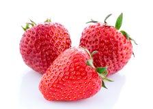 Φράουλα που απομονώνεται ώριμη Στοκ Εικόνες