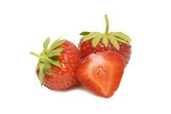 Φράουλα σε ένα άσπρο υπόβαθρο Στοκ Εικόνες