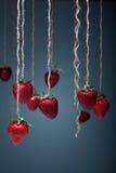 Φράουλα σε ένα σχοινί Στοκ Εικόνες