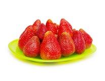 Φράουλα στην άσπρη ανασκόπηση Στοκ εικόνες με δικαίωμα ελεύθερης χρήσης