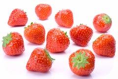 Φράουλα στο λευκό Στοκ Φωτογραφίες