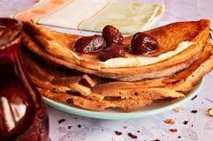 φράουλα τηγανιτών μαρμελά&d closeup στοκ εικόνες