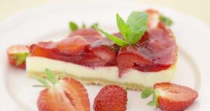 φράουλα φετών ξινή απόθεμα βίντεο