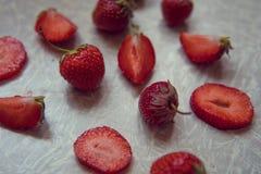 Φράουλα φρέσκια φράουλα Κόκκινη φράουλα Οργανικός και natura Στοκ Εικόνα