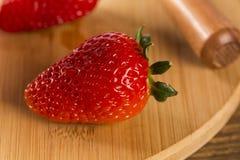 Φράουλα, φρέσκια φράουλα, ώριμη φράουλα, υγιές strawberr Στοκ Εικόνες