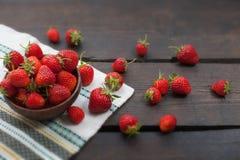 Φράουλα ψεκασμένη Στοκ Φωτογραφίες