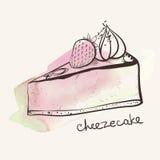 Φράουλα Cheezecake απεικόνιση αποθεμάτων