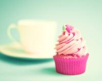 Φράουλα cupcake Στοκ φωτογραφία με δικαίωμα ελεύθερης χρήσης
