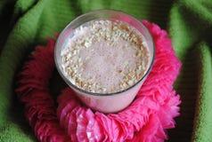 Φράουλα milkshake Στοκ φωτογραφίες με δικαίωμα ελεύθερης χρήσης