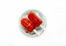 Φράουλα popsicles Στοκ Εικόνα