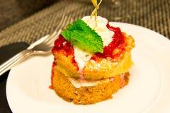 Φράουλα shortcake Στοκ Εικόνα