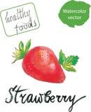 Φράουλα Watercolor ελεύθερη απεικόνιση δικαιώματος