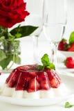 φράουλες ζελατίνας στοκ εικόνα