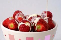φράουλες κρέμας στοκ φωτογραφίες