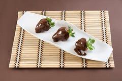 Φράουλες με τη σοκολάτα Στοκ Εικόνα