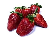 Φράουλες που απομονώνονται στην άσπρη ανασκόπηση Στοκ φωτογραφίες με δικαίωμα ελεύθερης χρήσης