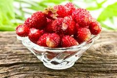 Φράουλες σε ένα βάζο γυαλιού Στοκ εικόνες με δικαίωμα ελεύθερης χρήσης