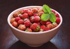 Φράουλες σε ένα κύπελλο Στοκ Εικόνες