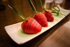 Φράουλες σοκολάτας στοκ φωτογραφία