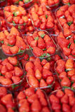 Φράουλες στην αγορά αγροτών στο Παρίσι, Γαλλία Στοκ εικόνες με δικαίωμα ελεύθερης χρήσης