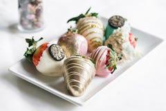 Φράουλες στη σοκολάτα Στοκ Εικόνες