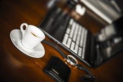 Φρένο καφέ στην εργασία Στοκ Φωτογραφίες