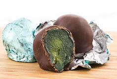 Φρέσκα (άψητα) σύκα στη σοκολάτα Στοκ Φωτογραφίες