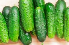 Φρέσκα αγγούρια, πράσινα ένας σωρός Στοκ φωτογραφία με δικαίωμα ελεύθερης χρήσης
