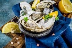 Φρέσκα ακατέργαστα θαλασσινά, στρείδια Στοκ φωτογραφία με δικαίωμα ελεύθερης χρήσης