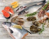 Φρέσκα ακατέργαστα θαλασσινά Στοκ Εικόνα