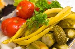φρέσκα αλατισμένα λαχανι&k Στοκ φωτογραφία με δικαίωμα ελεύθερης χρήσης