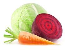 φρέσκα απομονωμένα λαχανικά στοκ εικόνες