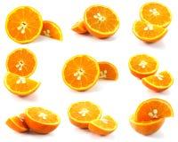 φρέσκα απομονωμένα πορτοκάλια Στοκ Εικόνες