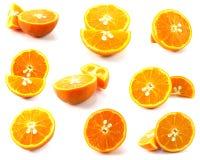 φρέσκα απομονωμένα πορτοκάλια Στοκ Εικόνα