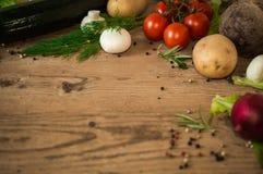 φρέσκα λαχανικά ανασκόπησ&e Στοκ Φωτογραφίες