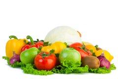 Φρέσκα λαχανικά απομονωμένος Στοκ Εικόνες