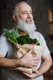 φρέσκα λαχανικά ατόμων Στοκ Φωτογραφία