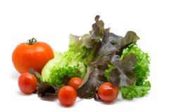 Φρέσκα λαχανικά και πράσινη σαλάτα Στοκ φωτογραφίες με δικαίωμα ελεύθερης χρήσης