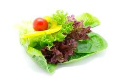 Φρέσκα λαχανικά και πράσινη σαλάτα Στοκ εικόνες με δικαίωμα ελεύθερης χρήσης