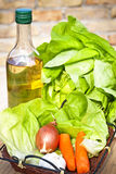 Φρέσκα λαχανικά και σαλάτα Στοκ Φωτογραφίες